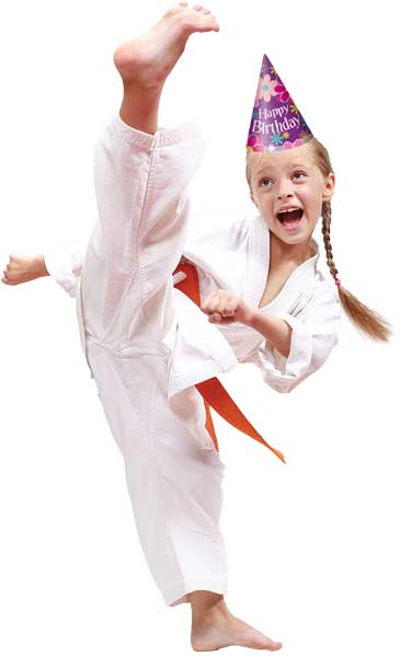martial arts birthday girl